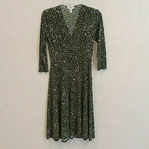 Maggy L size 4 green and black dress